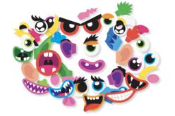 Kit 8 ballons visages rigolos à décorer - Ballons, guirlandes, serpentins – 10doigts.fr - 2