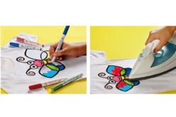 Marqueurs textiles pointe fine - 10 couleurs - Peintures et marqueurs pour tissus – 10doigts.fr - 2