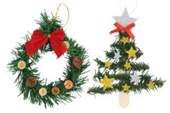 Guirlande de sapin artificielle - Guirlandes de Noël – 10doigts.fr - 2