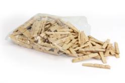Demi-pinces à linge - Lot de 200 - Pinces à linge en bois brut – 10doigts.fr