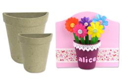 Demi-pot en papier mâché - Pots, vases en carton – 10doigts.fr