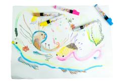 Marqueurs gouache Pébéo - 12 couleurs - Marqueur peinture gouache – 10doigts.fr - 2