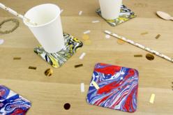 Dessous de verre en carton blanc épais - Set de 100 - Paniers, plateaux en carton – 10doigts.fr - 2