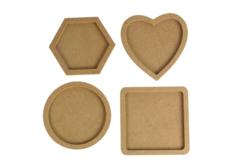 Dessous de verre avec rebords - 4 formes assorties - Cuisine et vaisselle – 10doigts.fr