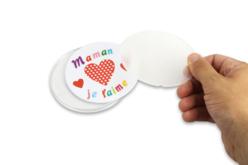 Dessous de verre à personnaliser - 6 pièces - Plastique Transparent – 10doigts.fr - 2