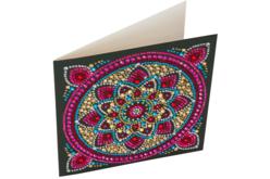 Broderie diamant Mandala - Carte 18 x 18 cm - Broderie Diamant – 10doigts.fr - 2