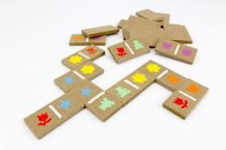 Dominos en bois - 28 pièces - Pièces de construction – 10doigts.fr - 2