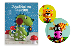 Livre Doudous en feutrine - Livres Mercerie, broderie – 10doigts.fr