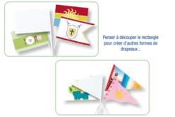 Drapeaux blancs à décorer - Ballons, guirlandes, serpentins – 10doigts.fr - 2