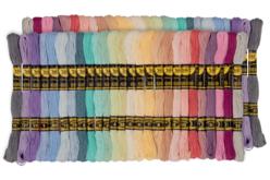 Échevettes de fils coton - 52 bobines pastel - Fils – 10doigts.fr