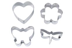 Emporte-pièces métal - Set de 4 formes - Emporte-pièces – 10doigts.fr