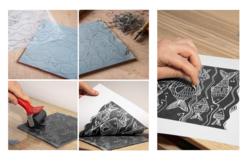Encre Noire pour Linogravure - 250 ml - Linogravure – 10doigts.fr - 2