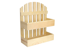 Étagère en bois barrières - 2 niveaux - Cuisine et vaisselle – 10doigts.fr