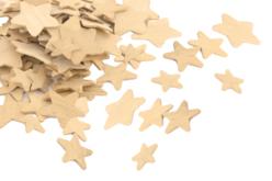 Étoiles en bois - Tailles assorties - Motifs bruts – 10doigts.fr