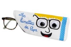 Etui à lunettes en coton blanc - Coton, lin – 10doigts.fr - 2
