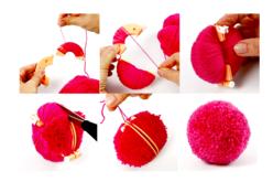 Outils pour fabriquer des pompons - Set de 4 outils - Laine – 10doigts.fr - 2