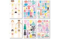 Fashion stickers Filles : 10 silhouettes et 200 vêtements / accessoires