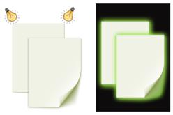 Papier phosphorescent adhésif - 2 feuilles - Papiers Unis – 10doigts.fr - 2