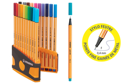 Feutres Stabilo Point 88 + Cahier coloriage OFFERT - Feutres pointes fines – 10doigts.fr