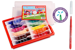 Feutres STABILO power Schoolpach+ recharges à la couleur - Feutres – 10doigts.fr