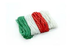 Ficelles cordelettes en coton métallisé - 4 couleurs - Fils en coton, échevettes – 10doigts.fr