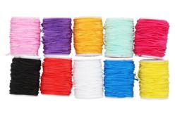 Fils élastiques colorés - 10 bobines assortis - Élastiques – 10doigts.fr