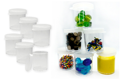 Boîtes de rangement transparente - Lot de 6 - Rangements – 10doigts.fr