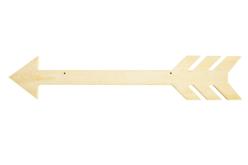 Flèche en bois à suspendre - 40 cm - Plaques en bois – 10doigts.fr