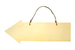 Flèche en bois et corde - 40 cm - Plaques en bois – 10doigts.fr - 2