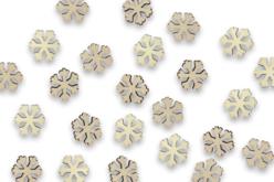 Flocons en bois - Lot de 50 - Motifs bruts – 10doigts.fr