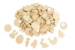 Décorations de pâques en bois - 90 pièces - Déco en bois – 10doigts.fr