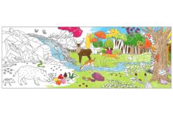 Fresque géante à colorier - La forêt - Supports pré-dessinés – 10doigts.fr - 2