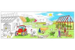 Fresque géante à colorier - La ferme - Supports pré-dessinés – 10doigts.fr - 2