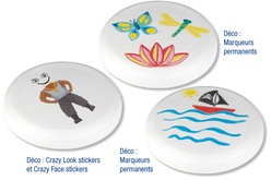 Frisbee à décorer - Supports de Coloriages – 10doigts.fr - 2