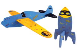 Fusée et avion en bois - Jeux et Jouets en bois – 10doigts.fr - 2