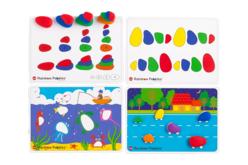 Jeu d'apprentissage avec des galets colorés - Kits activités d'apprentissage – 10doigts.fr - 2