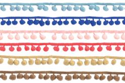 Galons à pompons en camaïeu de couleurs - Set de 2 - Rubans et cordons – 10doigts.fr - 2