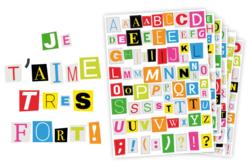 gommettes alphabet magazine