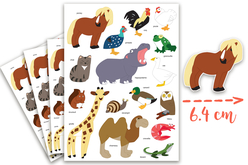 Maxi Gommettes animaux 3 - 4 Planches - Gommettes Animaux – 10doigts.fr