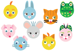 Gommettes 6 animaux rigolos - Gommettes Animaux – 10doigts.fr - 2