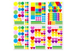 Gommettes électrostatiques pour vitres - 6 planches - Toutes les gommettes géométriques – 10doigts.fr - 2