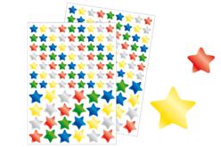 Gommettes étoiles métallisées - 2 planches - Gommettes Noël – 10doigts.fr