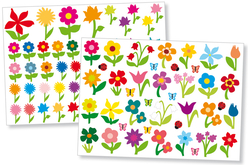 Gommettes fleurs