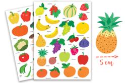 Gommettes fruits - 2 planches - Gommettes Fruits et Légumes – 10doigts.fr
