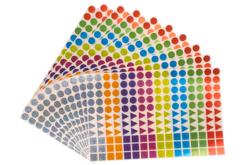 Gommettes géométriques brillantes - 10 planches - Toutes les gommettes géométriques – 10doigts.fr