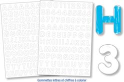 Gommettes lettres et chiffres à colorier