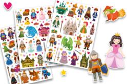 Gommettes médiévales, contes et légendes - 3 planches - Gommettes Histoires et décors – 10doigts.fr
