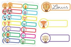 Etiquettes Avatars animaux - 28 étiquettes - Gommettes Animaux – 10doigts.fr