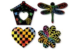 Stickers en carte à gratter thème Printemps - 26 pcs - Cartes à gratter – 10doigts.fr - 2