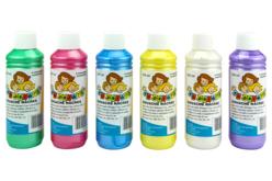 Gouache nacrée 10 DOIGTS - 6 flacons de 250 ml - Peinture Gouache 10 DOIGTS – 10doigts.fr